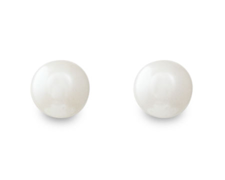 Antique White Color Pearl Stud Earrings (8mm)