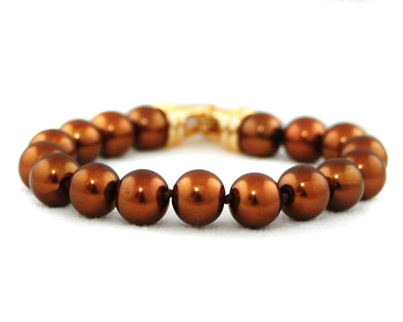 Chestnut Brown Pearl Bracelet (multiple sizes)