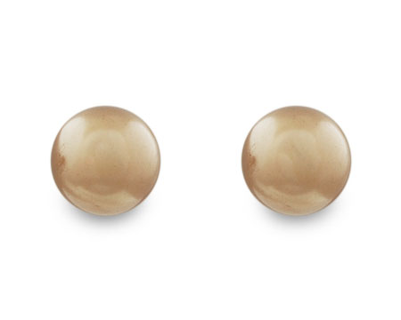 Taupe Single Pearl Stud Earring - multiple sizes